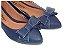 Sapatilha Azul Marinho Com Textura Lisa Laço Medio - Imagem 1