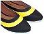 Sapatilha Preta Com Amarelo Bico Fino - Imagem 1