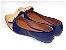 Sapatilha Azul Em Verniz Com Nude Laço Medio - Imagem 3