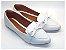 Sapatilha Slipper Branco Off White com Lacinho - Imagem 1