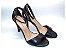 Sandália com Salto Fino Preto com Tira Fina - Imagem 1