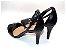 Sandália com Salto Fino Preto com Tira Fina - Imagem 2
