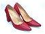 Scarpin Vermelho Salto Grosso - Imagem 1