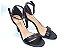Sandália com Salto Fino Preta com Tira Fina - Imagem 1