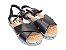 Sandália Flatform Preta com Tiras Transversais - Imagem 1