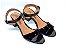 Sandália Preta em Verniz Salto Baixo Grosso - Imagem 1