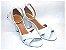 Sandália Branca Fosca com Salto Alto - Imagem 1