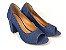 Salto Peep Toe 7 cm Clássico Jeans - Imagem 4