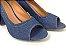 Salto Peep Toe 7 cm Clássico Jeans - Imagem 5