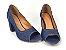 Salto Peep Toe 7 cm Clássico Jeans - Imagem 3