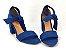 Sandália Suede Azul Salto 7 cm c/ Amarração - Imagem 4