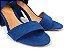 Sandália Suede Azul Salto 7 cm c/ Amarração - Imagem 8