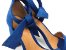 Sandália Suede Azul Salto 7 cm c/ Amarração - Imagem 6