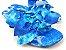 Rasteirinha com Lacinhos em Tecido Azul Estampado - 3 Pares por 99,90 - Imagem 3