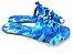 Rasteirinha com Lacinhos em Tecido Azul Estampado - 3 Pares por 99,90 - Imagem 4