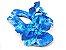 Rasteirinha com Lacinhos em Tecido Azul Estampado - 3 Pares por 99,90 - Imagem 2