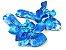 Rasteirinha com Lacinhos em Tecido Azul Estampado - 3 Pares por 99,90 - Imagem 1