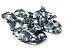 Rasteirinha com Lacinhos em Tecido Tie Dye Preto - 3 Pares por 99,90 - Imagem 2