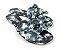Rasteirinha com Lacinhos em Tecido Tie Dye Preto - 3 Pares por 99,90 - Imagem 3