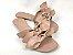 Rasteirinha com Lacinhos em Tecido Nude - 3 Pares por 99,90 - Imagem 5
