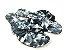 Rasteirinha Nozinho em Tecido Tie Dye Preto - 3 Pares por 99,90 - Imagem 1