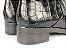 Bota Cano Curto Preta Textura Croco Total - Imagem 9