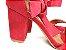 Sandália Suede Vermelha Salto 7 cm c/ Amarração - Imagem 4