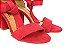 Sandália Suede Vermelha Salto 7 cm c/ Amarração - Imagem 5