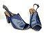 Sandália Aberta Azul Marinho Salto 8 cm Chanel - Imagem 7
