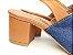 Sandália Aberta Jeans com Caramelo Salto 5 cm Chanel - Imagem 3