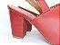 Sandália Aberta Vermelha Salto 8 cm Chanel - Imagem 3