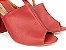 Sandália Aberta Vermelha Salto 8 cm Chanel - Imagem 4