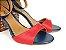 Sandália Azul Marinho com Vermelho Salto Colorido 7 cm - Imagem 4