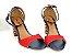 Sandália Azul Marinho com Vermelho Salto Colorido 7 cm - Imagem 7