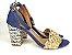 Sandália Jeans com Tramado Salto 7 cm - Imagem 8