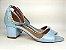 Sandália Azul Bebê em Verniz Salto 5 cm - Imagem 8
