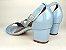 Sandália Azul Bebê em Verniz Salto 5 cm - Imagem 6