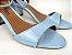 Sandália Azul Bebê em Verniz Salto 5 cm - Imagem 4