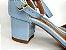 Sandália Azul Bebê em Verniz Salto 5 cm - Imagem 3