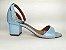 Sandália Azul Bebê em Verniz Salto 5 cm - Imagem 7