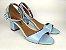 Sandália Azul Bebê em Verniz Salto 5 cm - Imagem 1