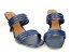 Tamanco Aberto com Tiras Azul Marinho Salto Taça 8cm - Imagem 7