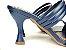 Tamanco Aberto com Tiras Azul Marinho Salto Taça 8cm - Imagem 3