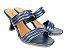 Tamanco Aberto com Tiras Azul Marinho Salto Taça 8cm - Imagem 2