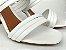 Tamanco Aberto com Tiras Branco Salto Taça 8cm - Imagem 5