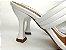 Tamanco Aberto com Tiras Branco Salto Taça 8cm - Imagem 2