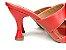 Tamanco Aberto Vermelho com Lacinhos Salto Taça 8 cm - Imagem 4
