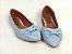 Sapatilha Azul Bebê com Laço Borboleta - Imagem 4