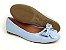 Sapatilha Azul Bebê com Laço Bico Redondo - Imagem 7