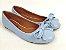 Sapatilha Azul Bebê com Laço Bico Redondo - Imagem 1